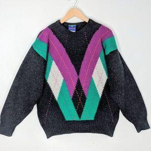 Wool Chevron Sweater